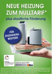 Neue Heizung zum Nulltarif - Für Eigenheimbesitzer! Deutscher Nachhaltigkeitspreis - Deutschlands nachhaltigstes Produkt 2011